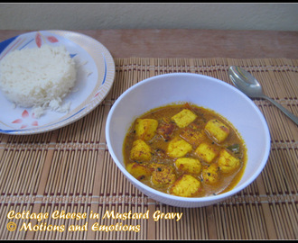 Cottage Cheese in Mustard Gravy / Chana r Sorshe Jhal / No Onion  No Garlic Paneer Recipe