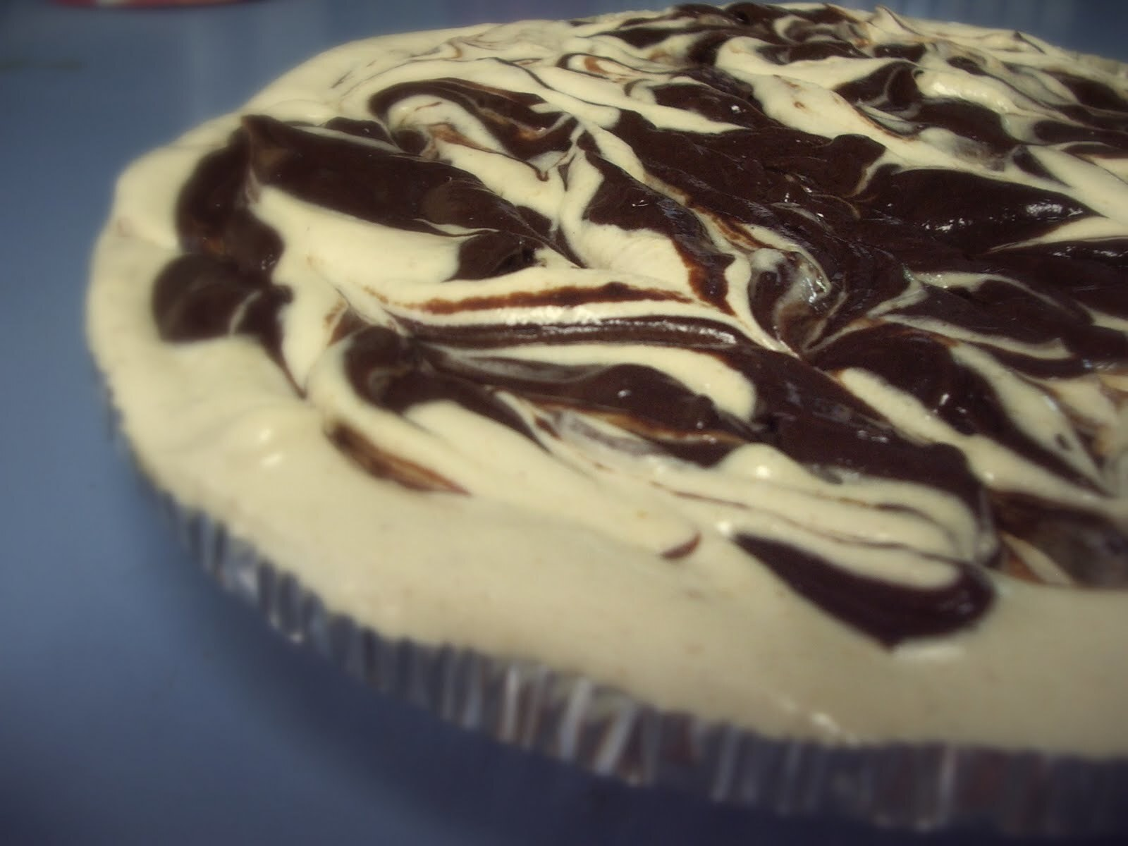 Chocolate Marbled Peanut Butter Pie