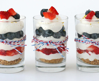Strawberry Blueberry Mini Cheesecake Trifle