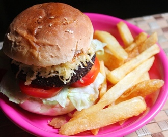 Chicken Burger Recipe - Chicken Patty Burger Recipe