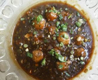 Veg Manchurian in garlic gravy