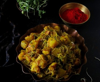 Aloo and Methi Sprout Ki Sabzi