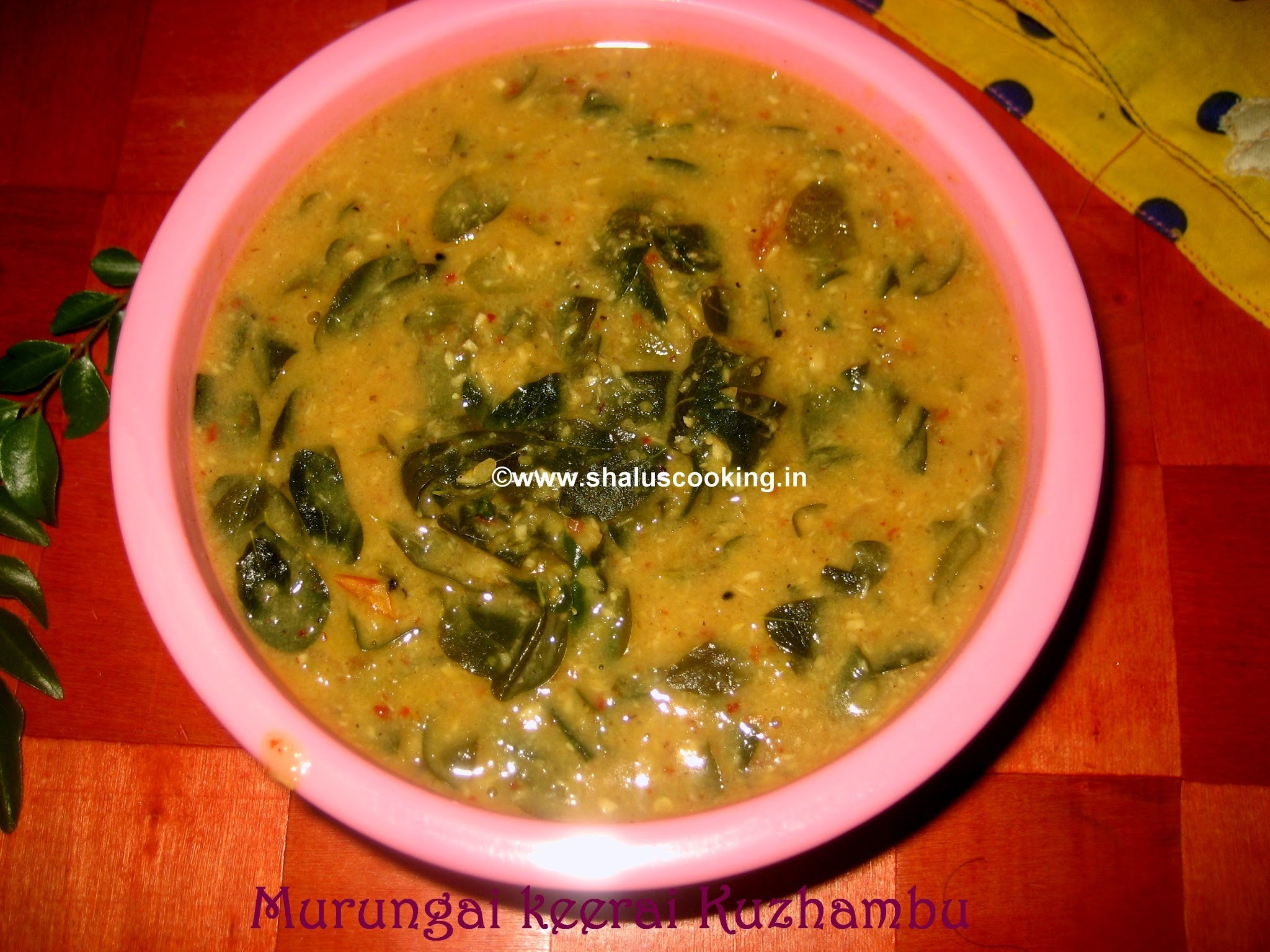 Murungai Keerai Kuzhambu - Drumstick Leaves Curry