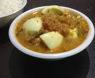 Egg curry or eggs in gravy