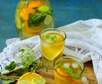 Iced Green Tea – Citrus Detox drink