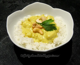 Pollo al curry con arroz basmati - Chicken curry with basmati rice