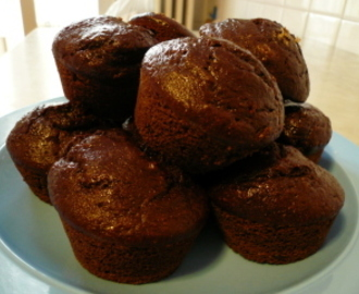Muffins Rellenos de Triple Chocolate / Triple Chocolate Chip Muffins