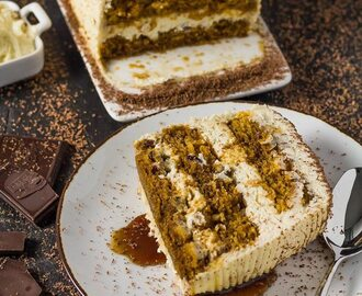 Pumpkin Tiramisu Cake Recipe with Pumpkin Spice Mascarpone Cream