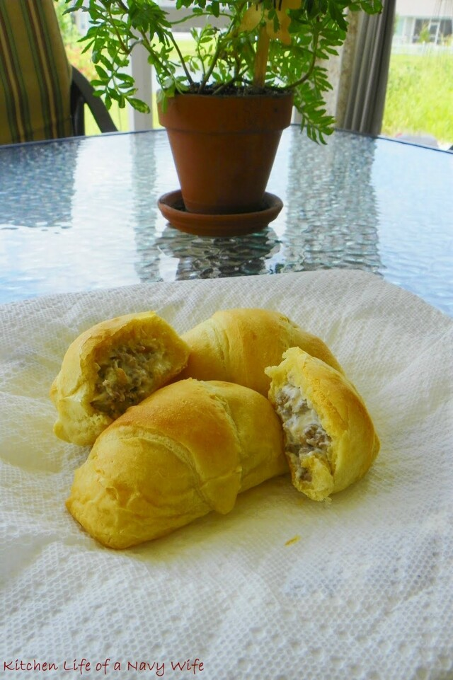 Sausage Cream Cheese Stuffed Crescent Rolls