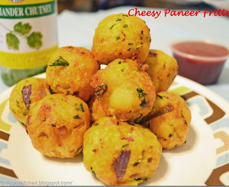 Cheesy Paneer Fritters