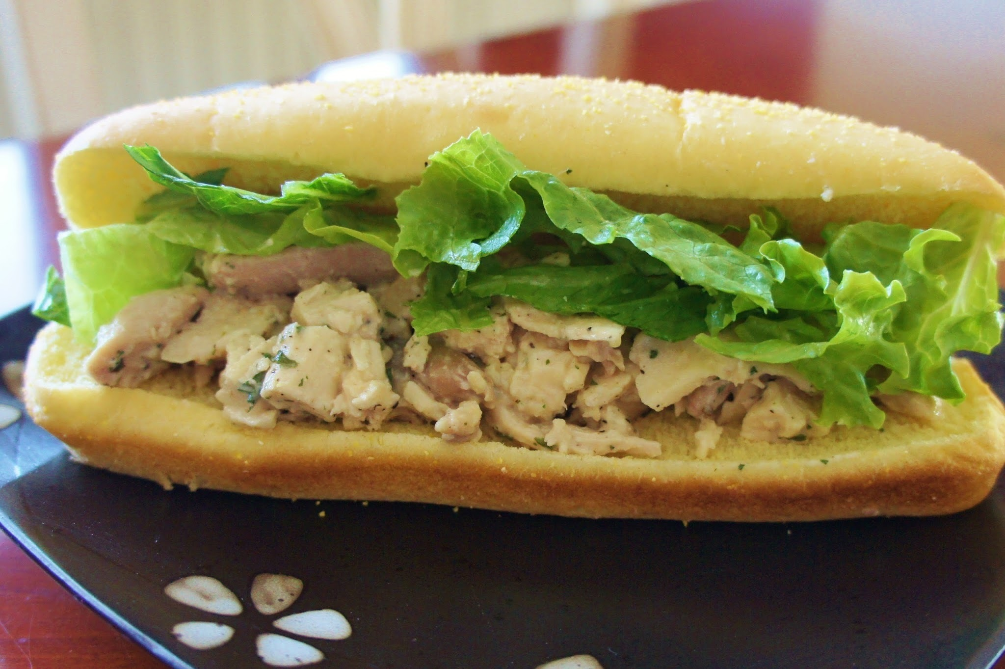 Recipe for Slow Cooker Chicken Caesar Sandwiches
