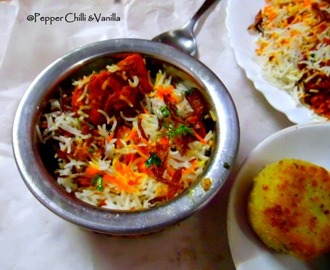 Chicken Tikka Biryani Recipe.