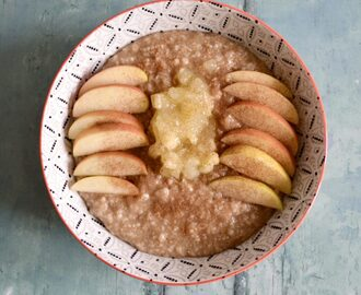 Gluten and Dairy Free Apple Cinnamon Oatmeal