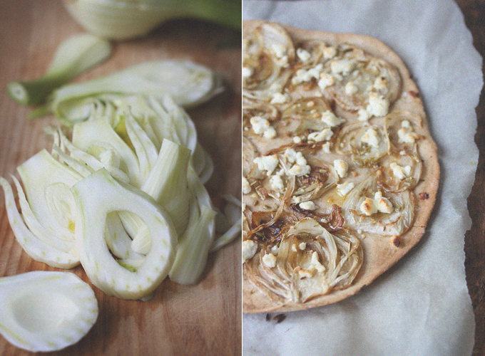 Caramelized Fennel and Goat Cheese Flatbread