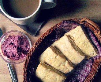 Lime Biscuits with Blueberry Butter