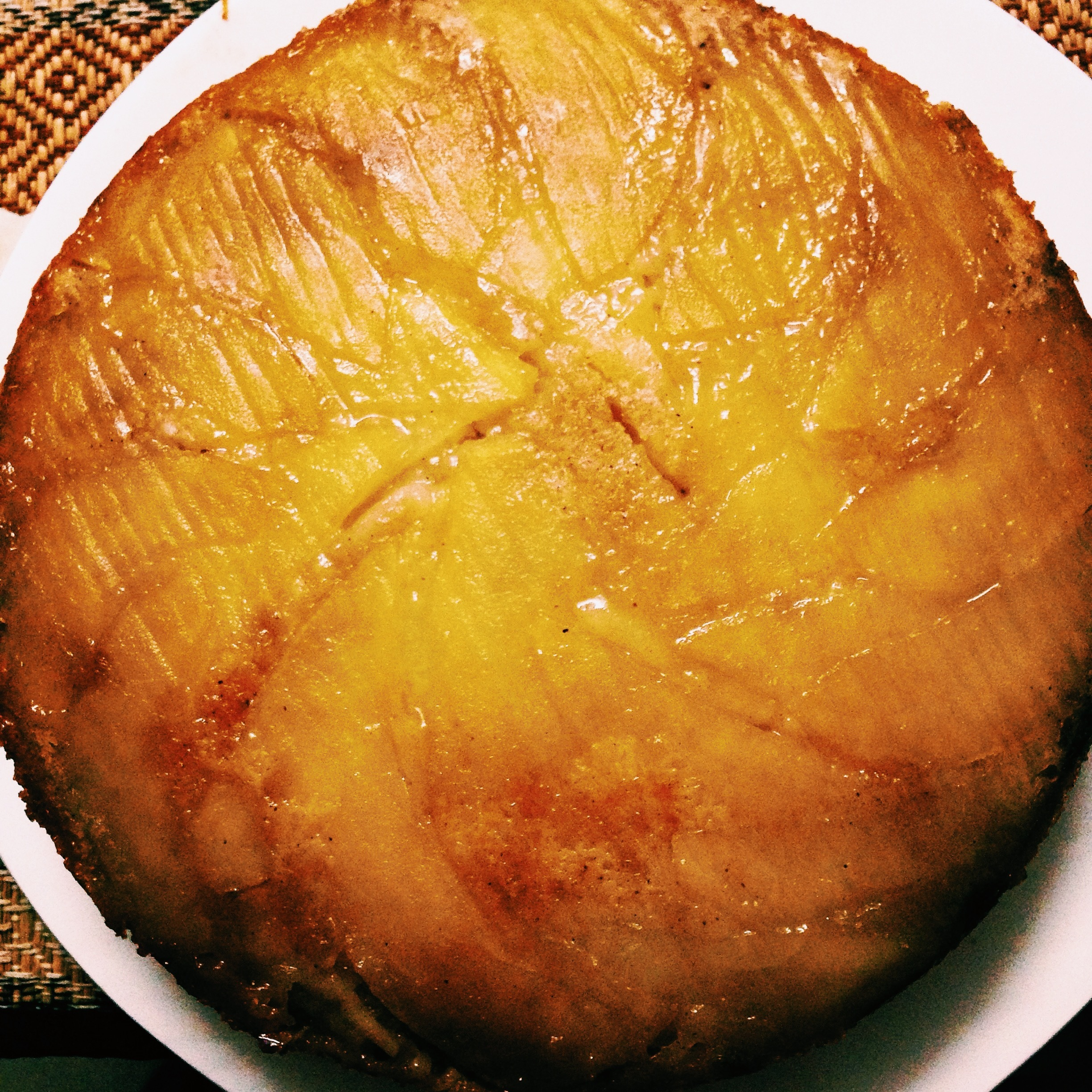 Egg Free Apple Upside Down Cake