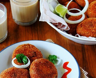 Chicken Cutlets {Indian Chicken Croquettes}