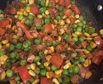 Corn and Green Peas Masala