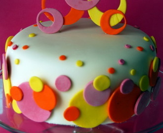 Day #112 Polka Dot Sweet 16 Cake & Edible Glue