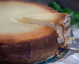 Om je vingers bij af te likken: traditionele New York cheesecake