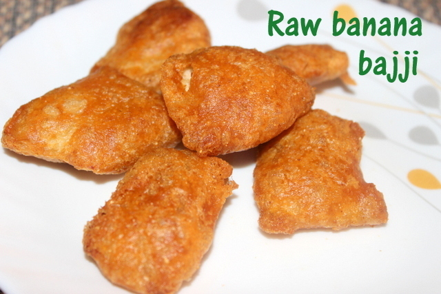 Raw banana bajji recipe – how to make raw banana or balekayi bajji recipe – snacks recipes