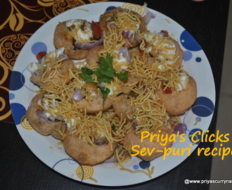 Sev puri recipe ,how to make sev-puri,mumbai street sevpuri