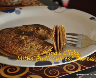 Simple wheat sweet Pancake recipe , how to make Gujarati Mitha Pudla