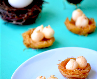 Easter Special - Rasagulla Eggs in a Bird's Nest