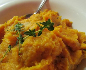 Herbed Sweet Potato Puree with Caramelized Shallots