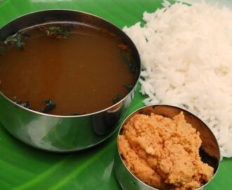 Paruppu Thogayal and Milagu Rasam (Dal chutney & Pepper Soup)