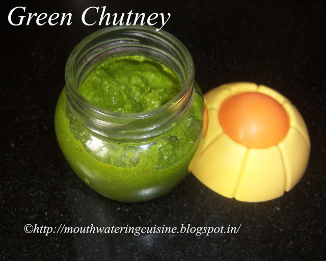 Green Chutney Recipe-- How to make Green Chutney for Chaat