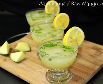 RAW MANGO DRINK RECIPE - AAM KA PANNA RECIPE