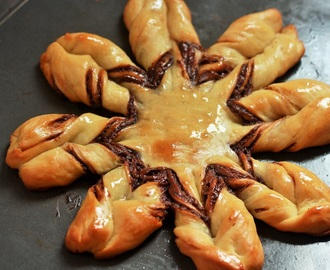 Braided Nutella Star Bread, Step by Step Instructions