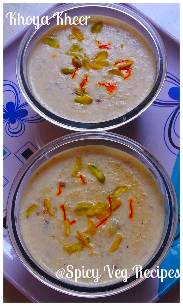 Khoya Kheer (Rice Pudding)