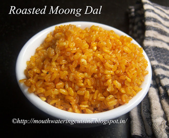 Roasted Moong Dal -- Fried Moong Dal