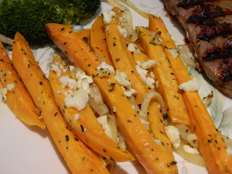 Yam Fries with Feta  (Greek Style)
