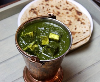 Palak paneer (Indian cottage cheese in spinach)
