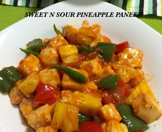 SWEET N SOUR PINEAPPLE PANEER