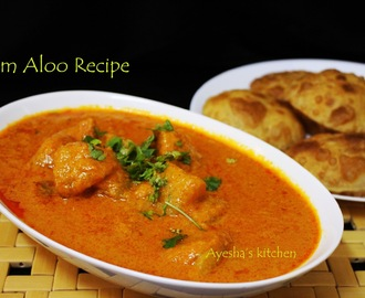 DUM ALOO RECIPE / POTATO SIMMERED IN SPICE AND CREAM GRAVY