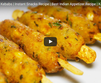 Crispy Corn Kebabs Recipe Video