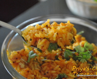 South Indian Tomato Rice, how to make tomato rice