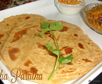 Lachha Paratha Recipe / Lacha Paratha / Whole Wheat Lachha Paratha /  Layered Indian Bread