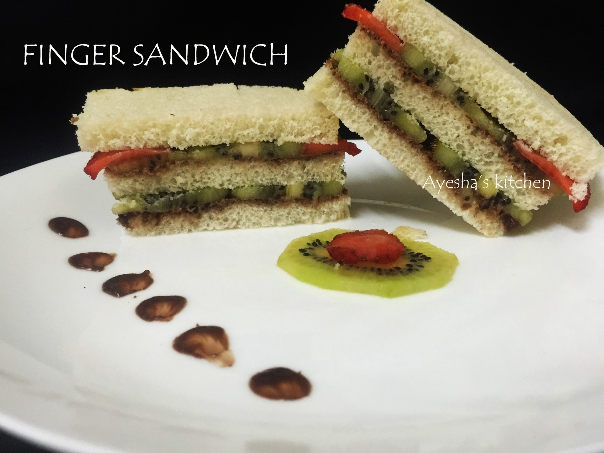 TEA SANDWICH RECIPE / SWEET FINGER SANDWICH RECIPE / KIDS SNACK