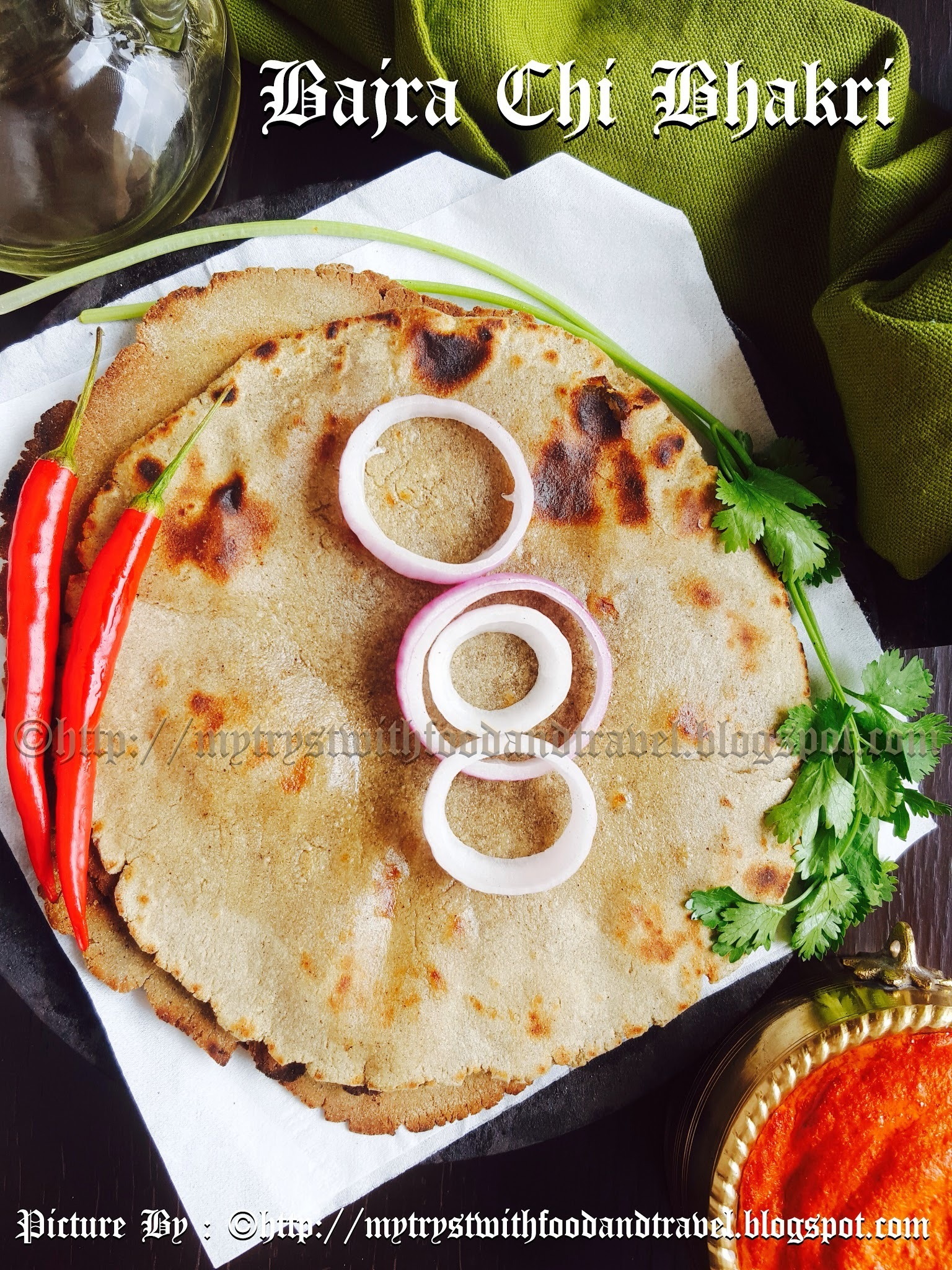 Bajra Chi Bhakri Recipe / Bajra Roti Recipe / Indian Flat Bread Made With Pearl Millet Flour Recipe ~ Maharashtrian Cuisine