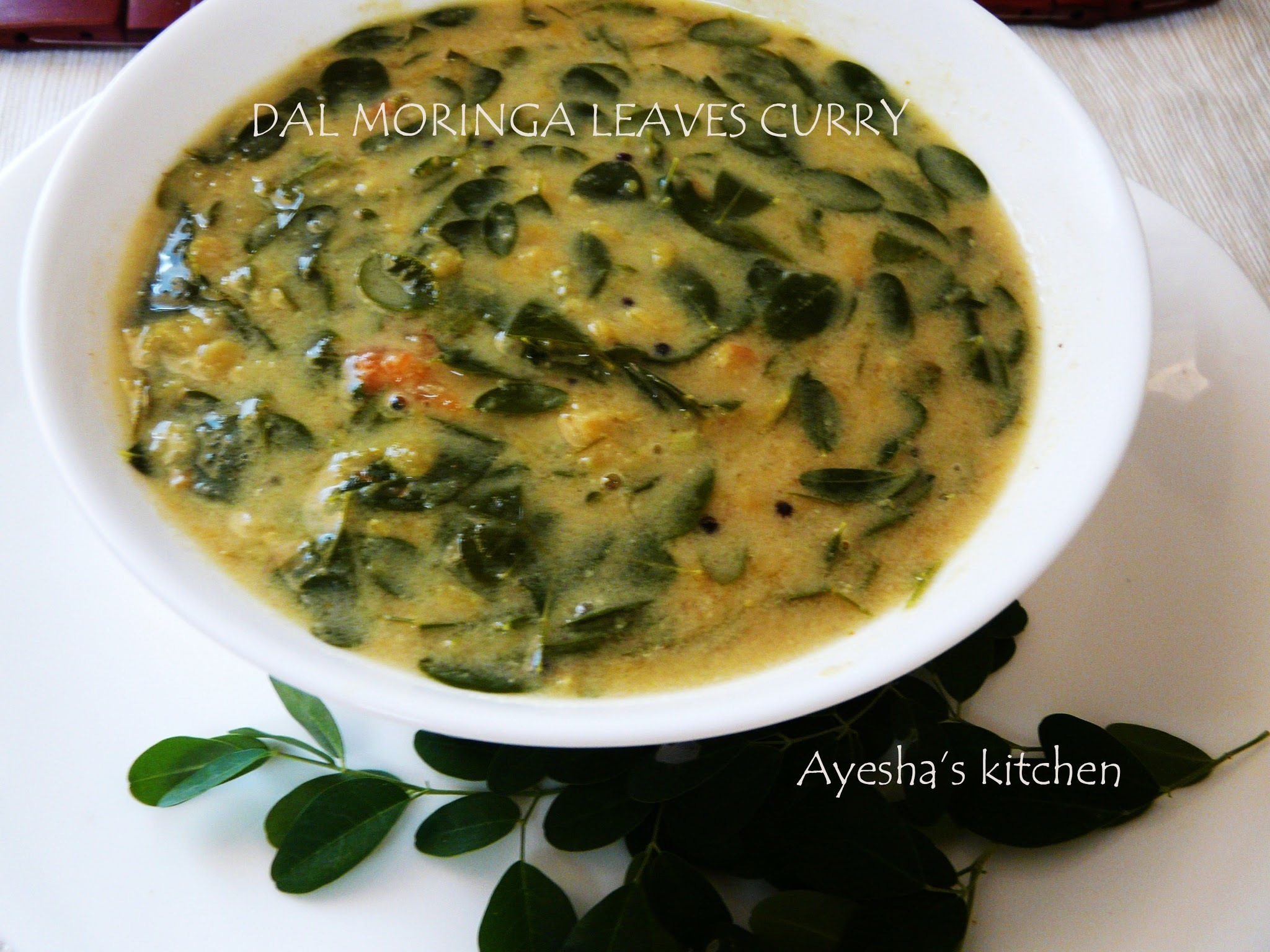 DRUMSTICK LEAVES CURRY WITH  DAL  / MURINGAYILA PARIPPU CURRY RECIPE