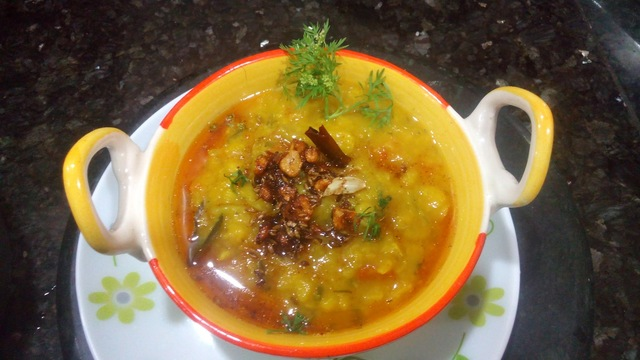Moong Dal Tadka recipe,How to make hotel style moong dal with tadka