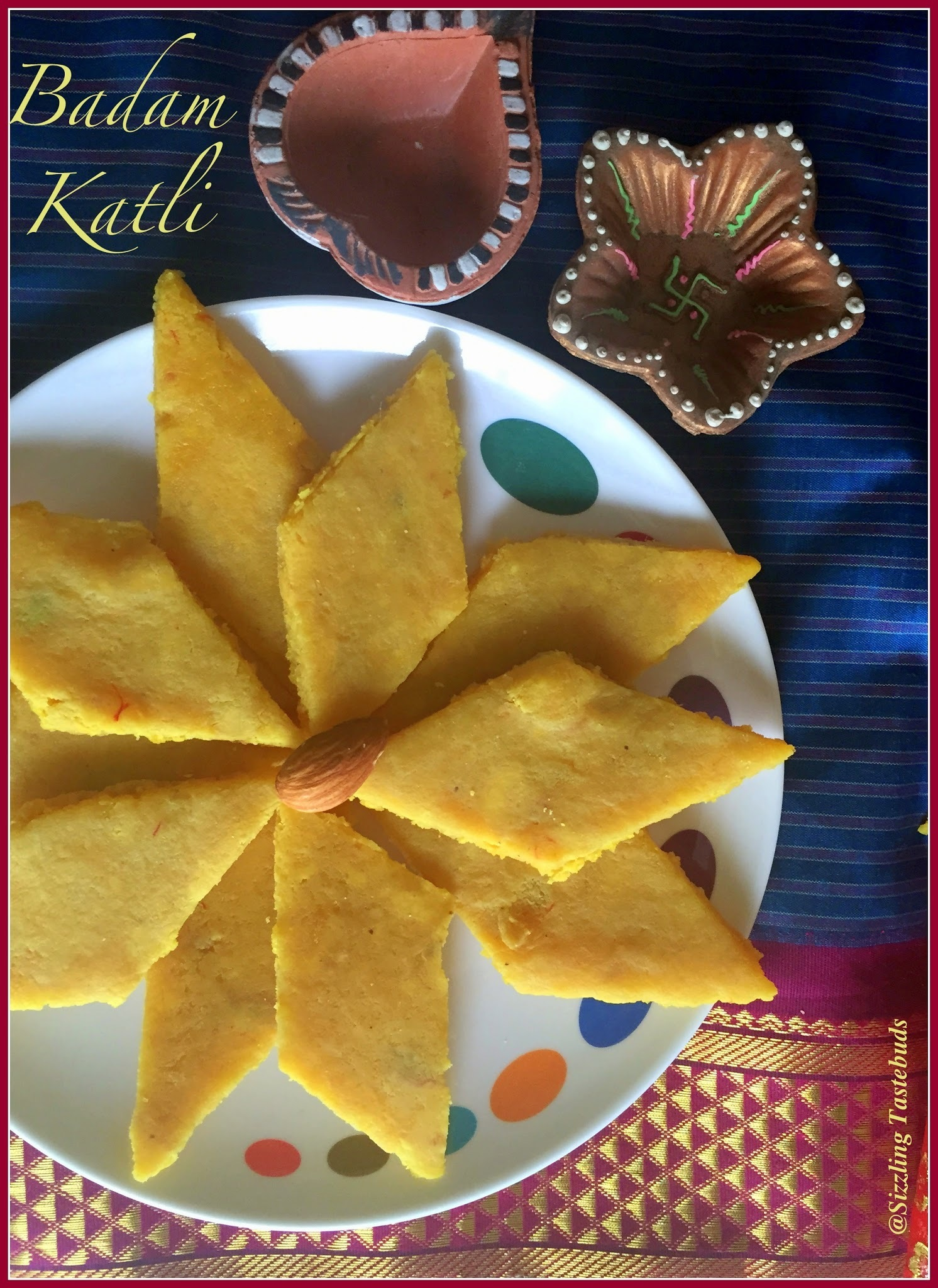 Badam Barfi | How to make Badam Katli | Almond Fudge | Easy Diwali sweets