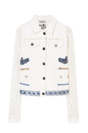Desigual - Woman - Women's white denim jacket - Andra - Andra - Size 40