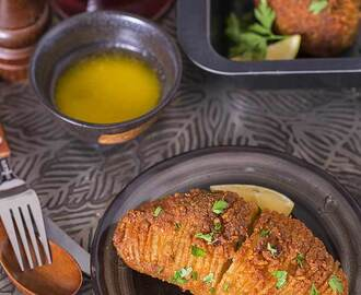 Spiced Hasselback Potatoes