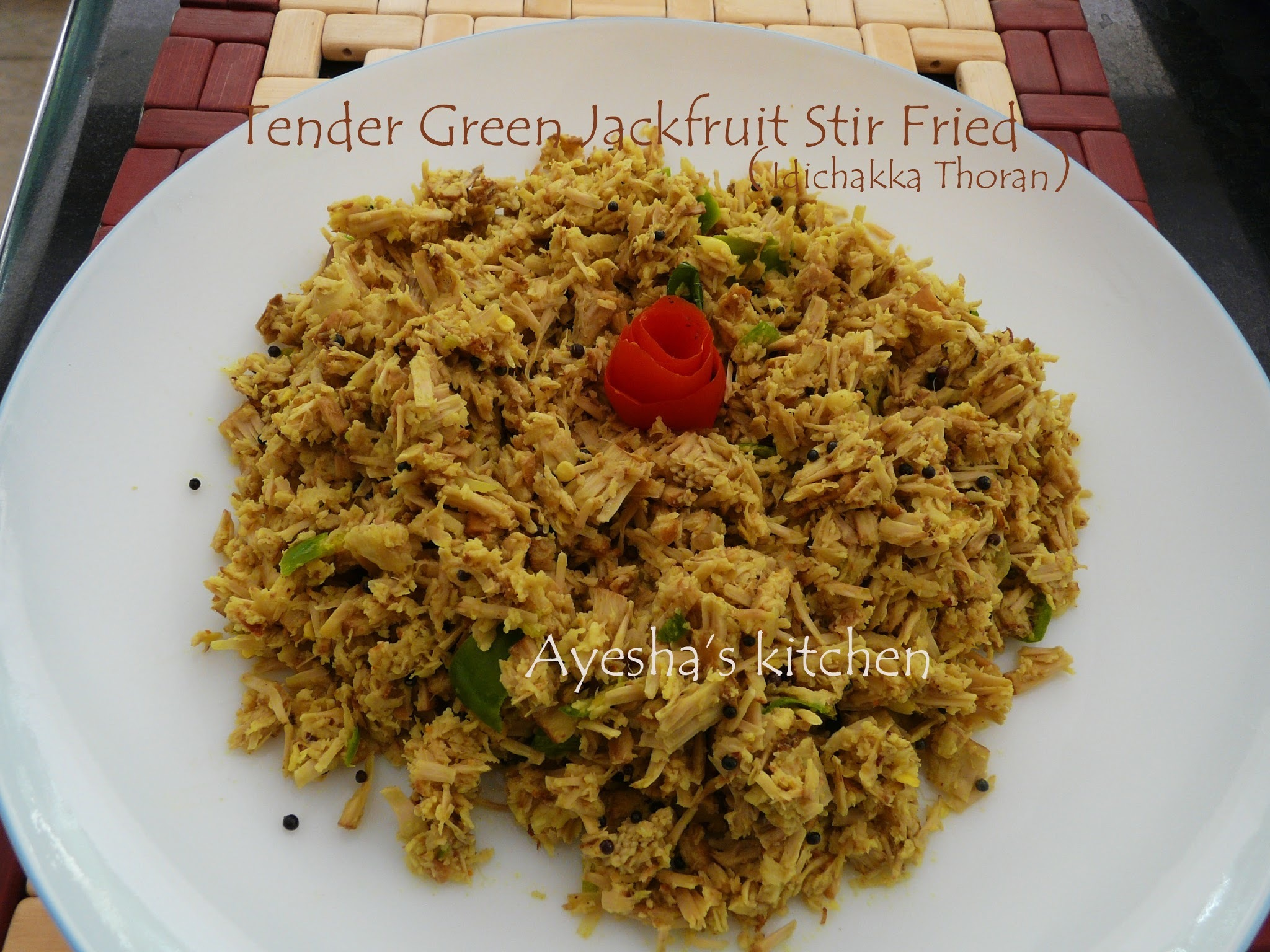 TENDER JACK FRUIT STIR FRIED - IDINCHAKKA / IDICHAKKA THORAN RECIPE